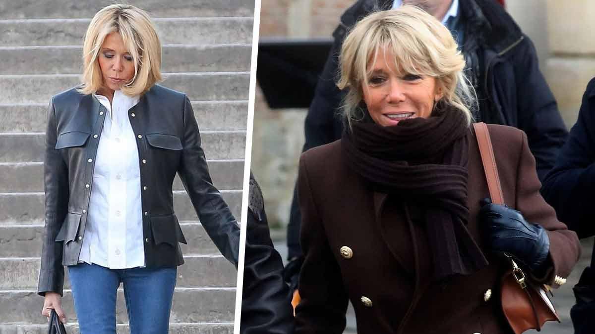 Brigitte Macron plus renversante que jamais dans son look rock très raffiné