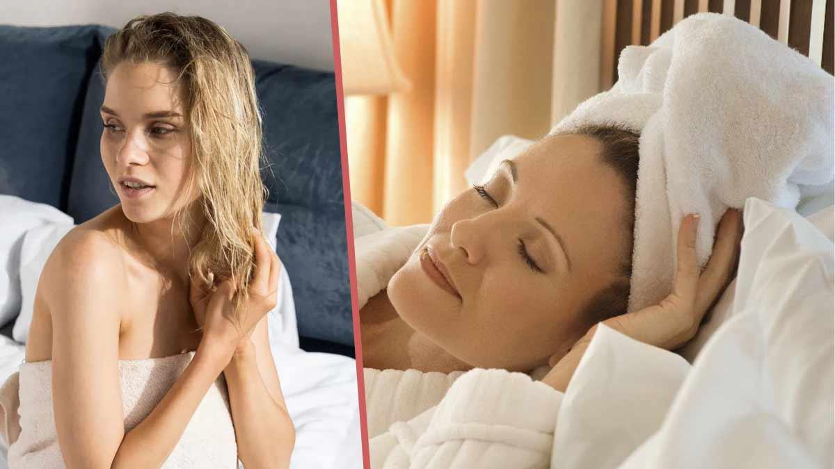 Pourquoi ne faut-il surtout pas se coucher avec les cheveux encore mouillés ?