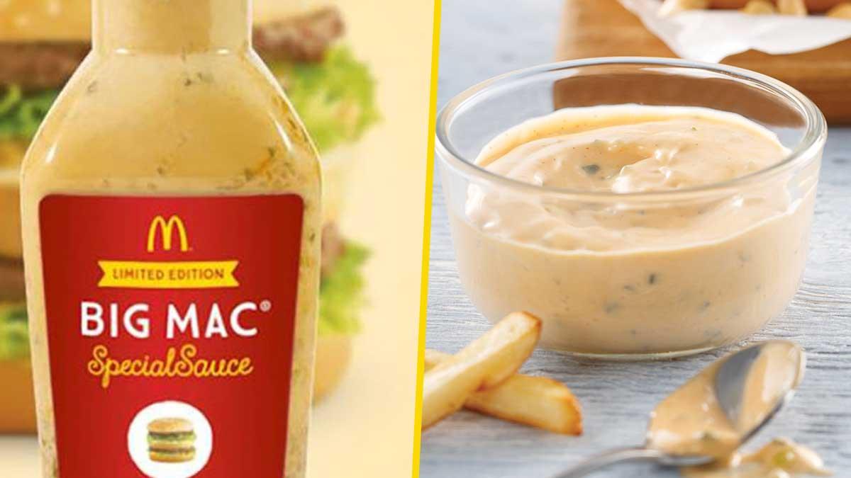 Voici l'authentique et inégalable savoureuse recette de la sauce Big Mac de chez McDonald's