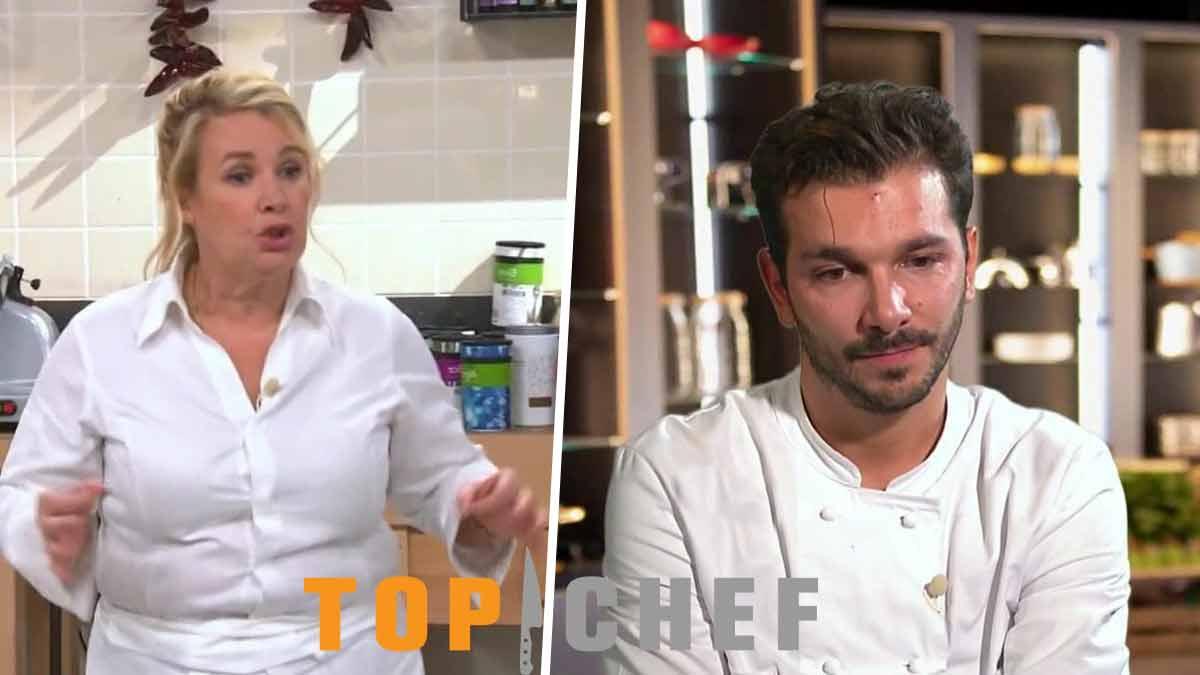Top Chef 12 : Hélène Darroze baffe en pleine figure élimination CHOC de Pierre Chomet beaucoup de larmes au menu
