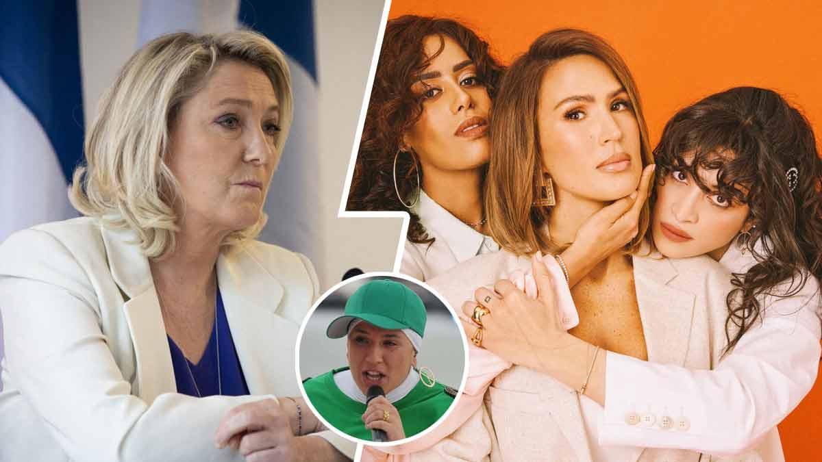 Marine Le Pen répond cash au trio de choc Amel Bent, Vitaa et Camélia Jordana pour leur reprise du titre de Diam's