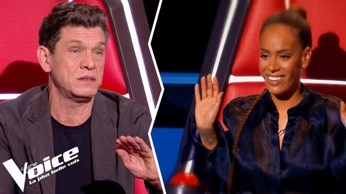 """""""Vraiment à la ramasse. Dégoûté"""" : Amel Bent Marc Lavoine et ses acolytes provoquent l'ire des internautes dans The Voice."""