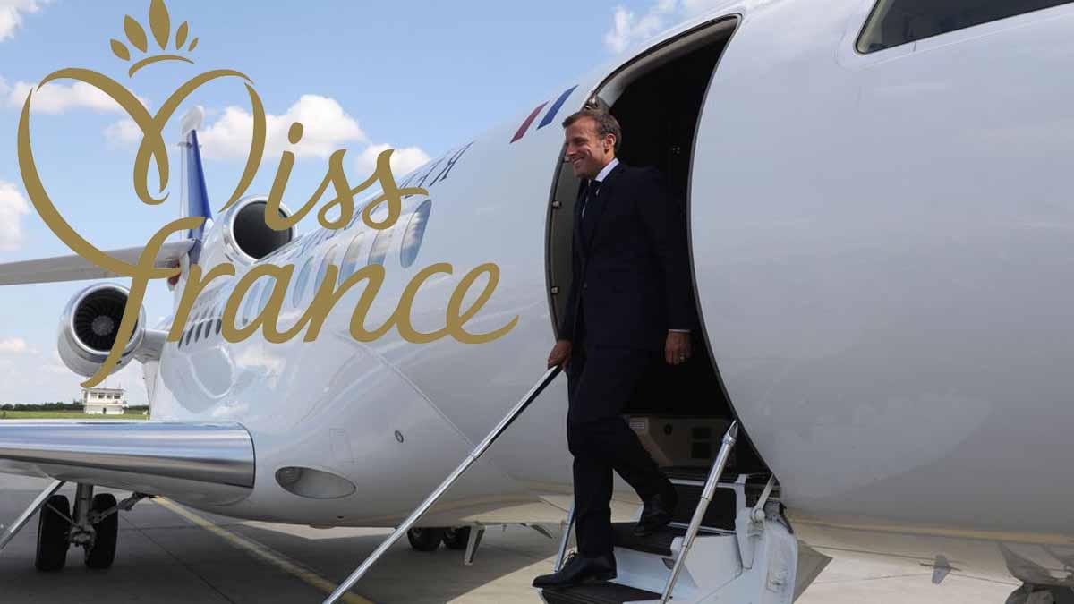 Emmanuel Macron en voyage officiel avec une ex-Miss France !